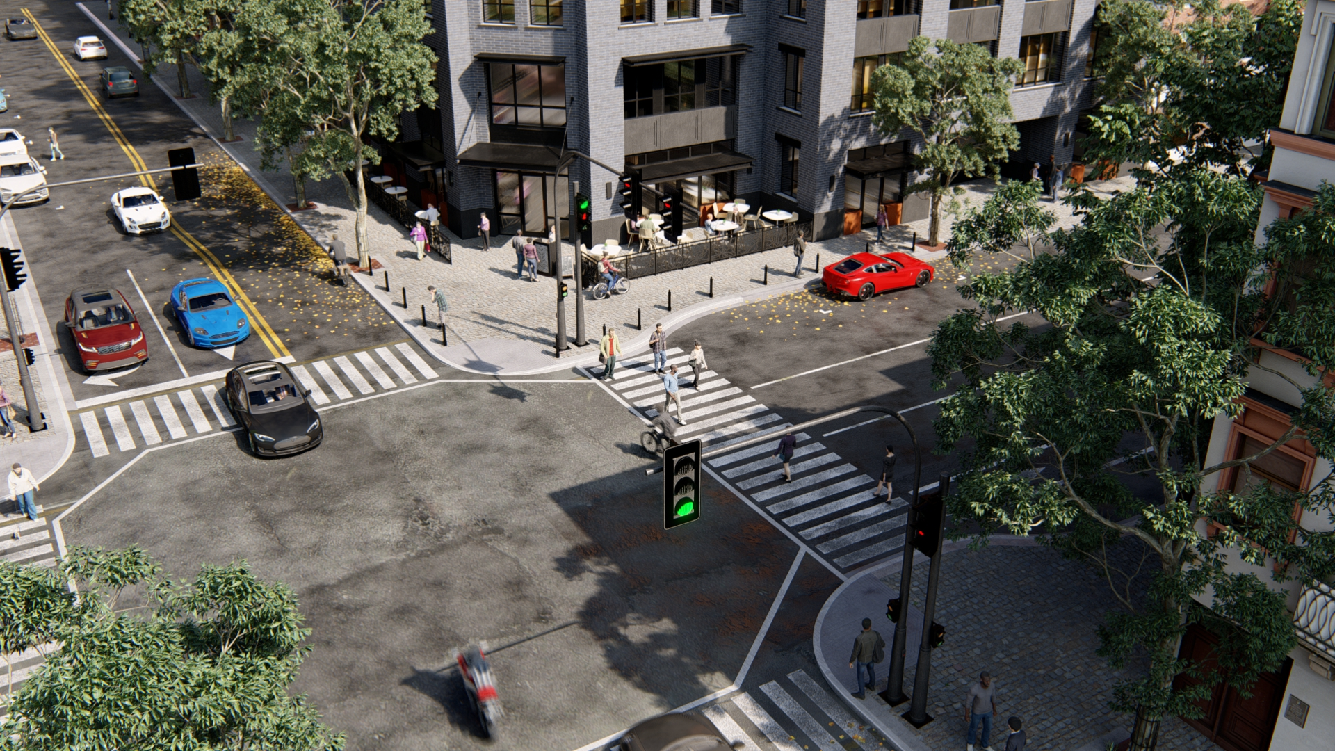 Day Urban Scene_Lumion10_TenOverStudio