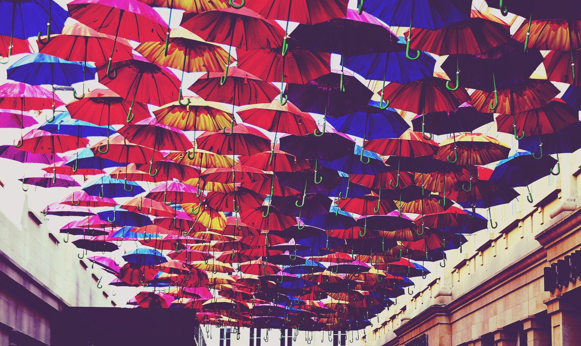 red-blue-and-orange-umbrella-lot-918781