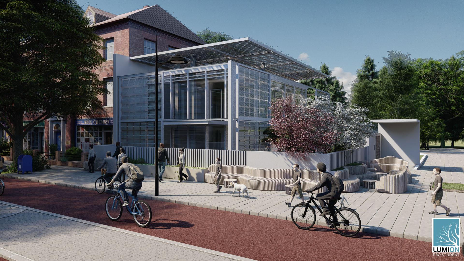 RENDER 3 Schiebehaus Studente Lorenzo Fortunato classe 3G architettura prof. Anzalone