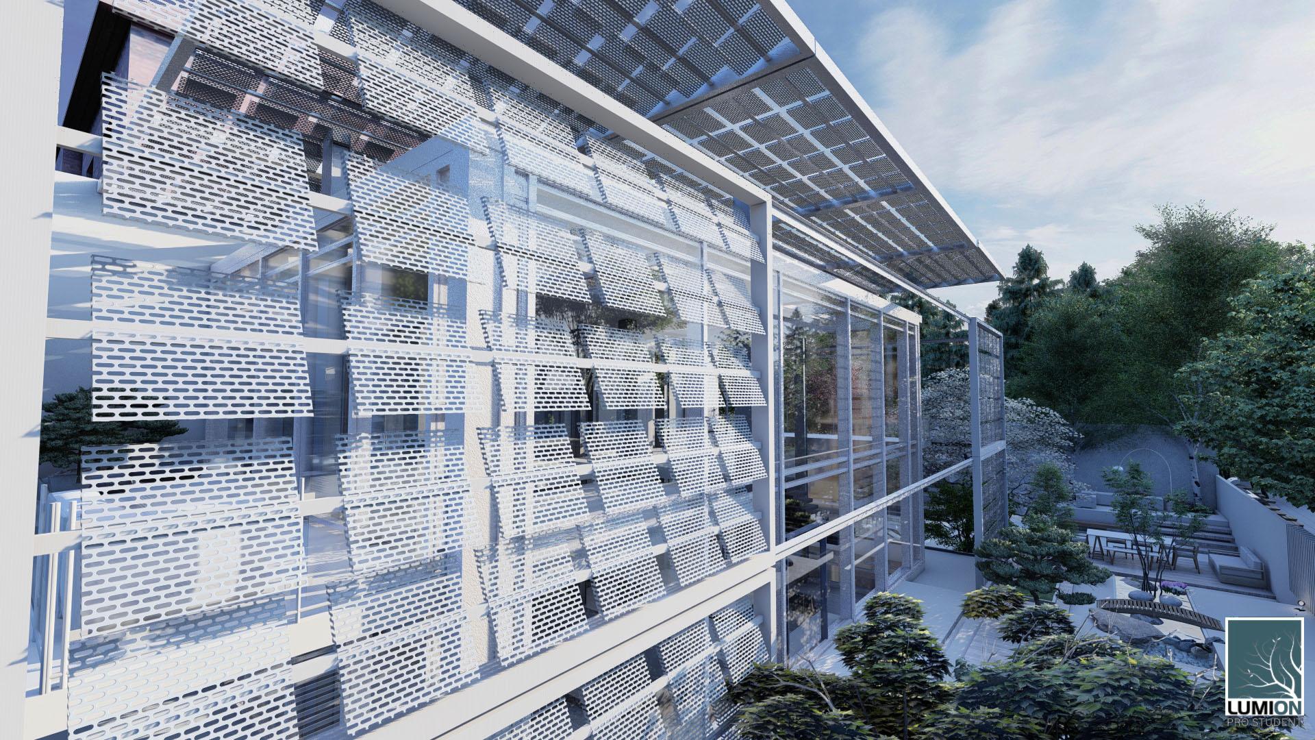 RENDER 5 Schiebehaus Studente Lorenzo Fortunato classe 3G architettura prof. Anzalone