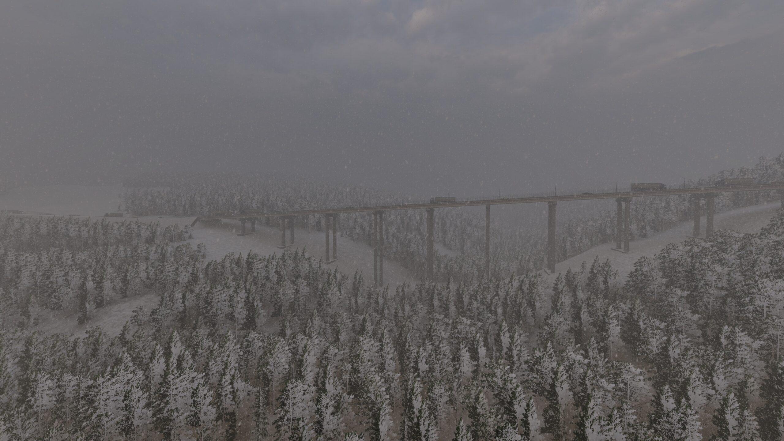 Il viadotto d'inverno